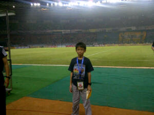 Menonton pertandingan Intermilan VS Indonesia U-23