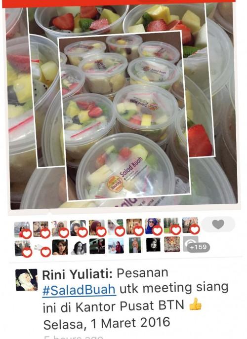 Pesanan Salad buah dari Bank Indonesia