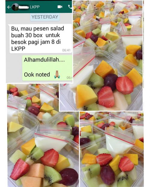 Pesanan Salad Buah dari LKPP