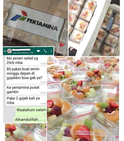 Pesanan Salad buah dari PT PERTAMINA