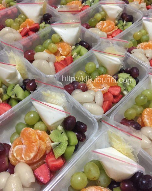 Pesanan salad buah dari BTN