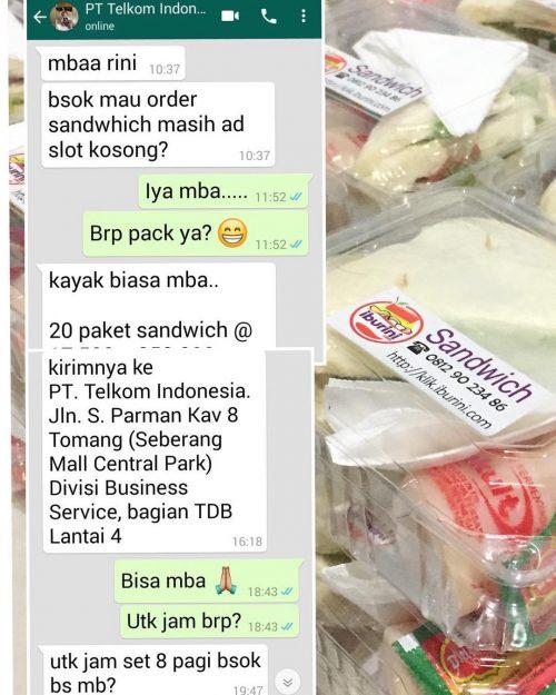 Pesanan Sandwich dari PT Telekomunikasi Indonesia