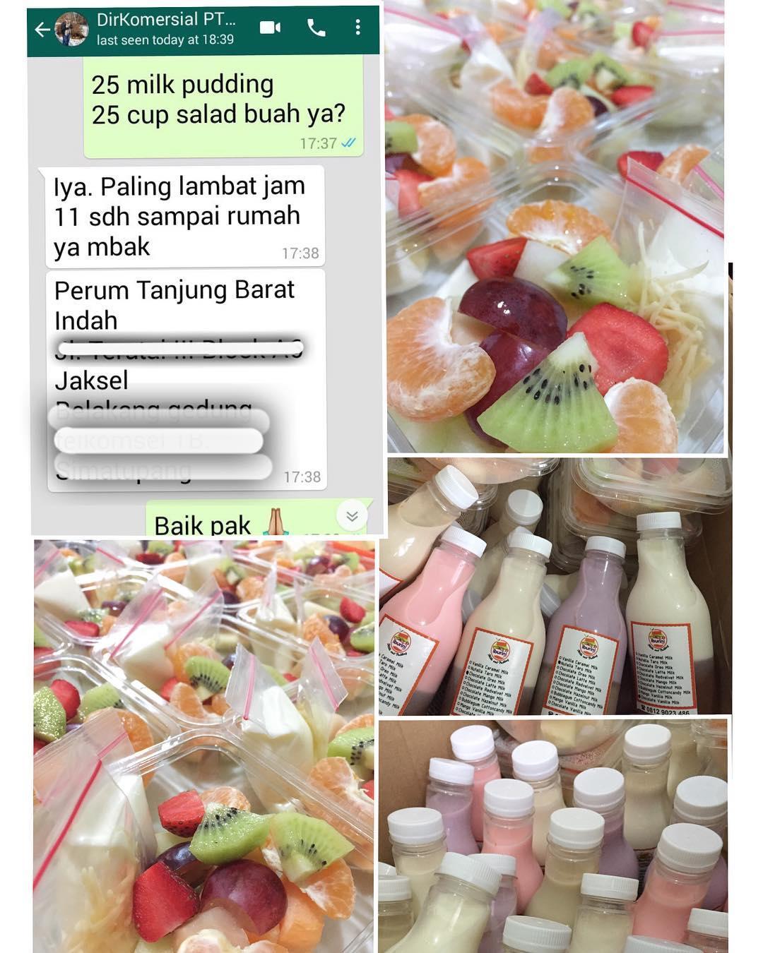 Pesanan Salad Buah dari PT Semen Padang