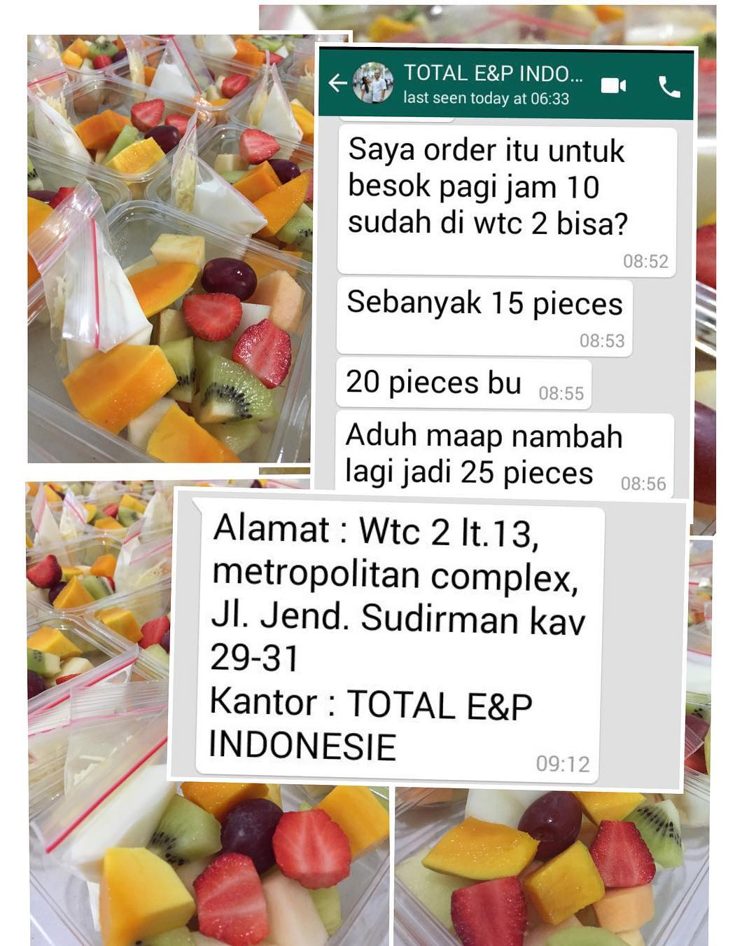 Pesanan Salad Buah dari TOTAL E&P INDONESIE
